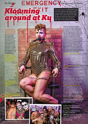 BOYZ Magazine - Halloween editorial