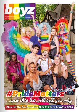 BOYZ Magazine - Pride in London cover