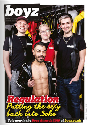 BOYZ Magazine - Regulation Soho cover