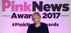 Theresa May at Pink News
