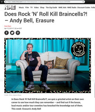 NME magazine - Andy Bell portrait