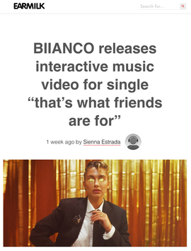 """BIIANCO releases interactive music video for single """"that's what friends are for"""""""