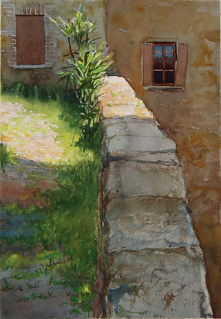 Matthew Daub Plein air watercolor Italy Arts Sojourn