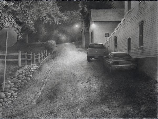 Matthew Daub realist conte crayon drawing
