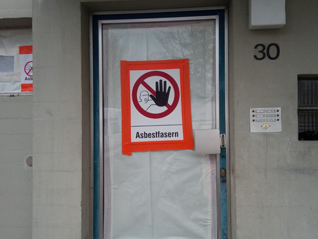 Asbest-Sanierung im vollen Gange!