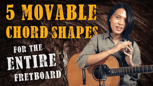 5 Movable Chord Shapes to Play EVERYTHING on Fretboard!