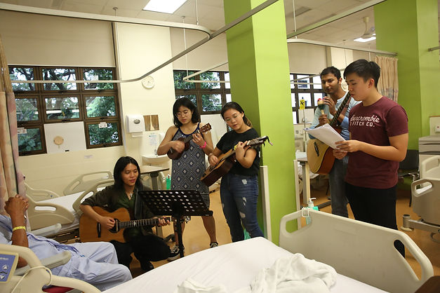 Neil Chan Music Community Outreach Singapore Hospital Ward Visit