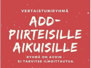 ADD-aikuisten vertaisryhmä 1.12. klo 17-19 Wherebyssä
