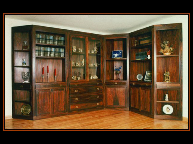 Brazilian Rosewood Display Cabinets