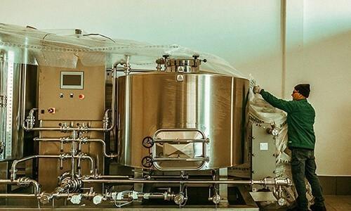 brasserie système à vapeur