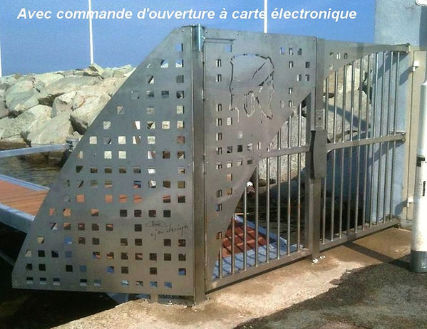 portail de ponton en inox Port-Fréjus