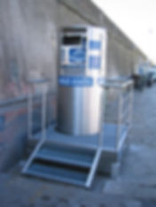 Container pour huiles usagées, bac de rétention métallique (inox 316L)