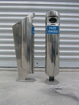 colonne pour piles usagées