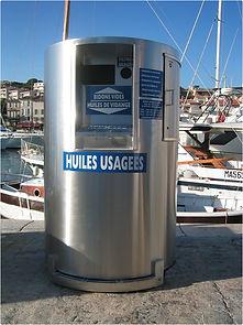 conteneur pour huiles usagées, bidons et filtres usagés Montpellier Hérault, Occitanie, Hérault Gard Aude Pyrénées Orientales Aveyron PACA
