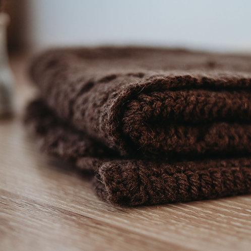 100% Yak Crochet Blanket