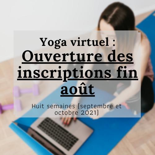 Yoga : à venir