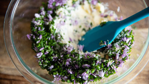 How to Make Chive Blossom Butter