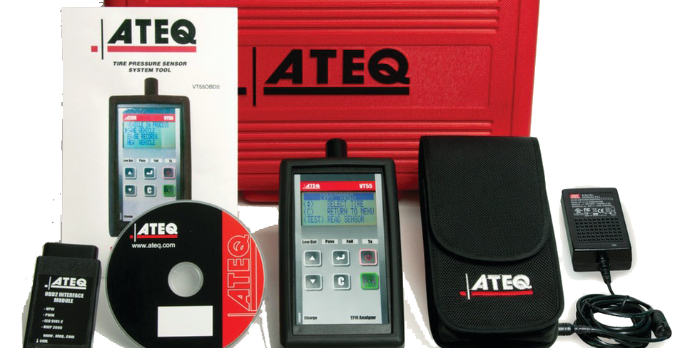 ATEQ VT55 OBDII сканер для диагностики и перепрограммирования датчиков TPMS