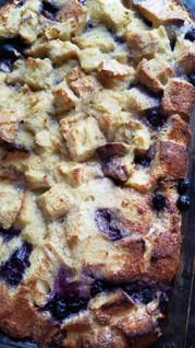 Orange/Blueberry baked french toast