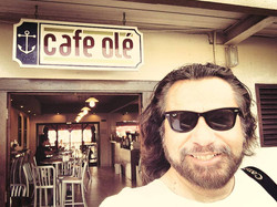 At Cafe Ole in St. Lucia 2014