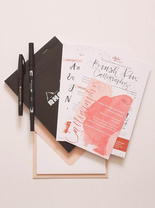 Brush Pen Lettering Kit