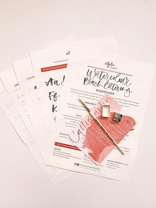 PDF VERSION | Thursday 22nd April 7-9pm: Online Watercolour Paint Brush Workshop