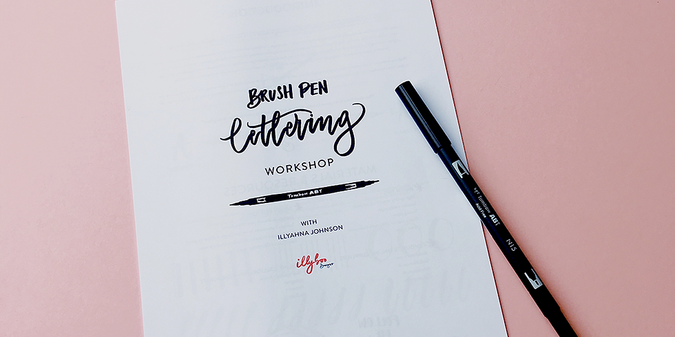 Calligraphy and Cake : Beginners Brush Pen Workshop - £50 (1)