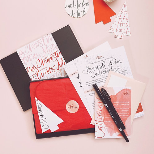 NEW - Christmas Brush Pen Lettering Kit