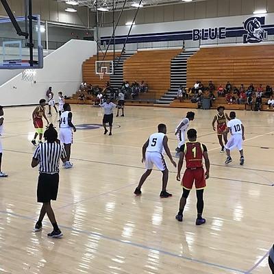DeKalb PAL Plus 15U Basketball Team playing in an AAU Tournament in Gwinnett