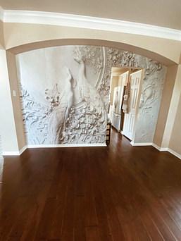 Peacock Wallpaper Install