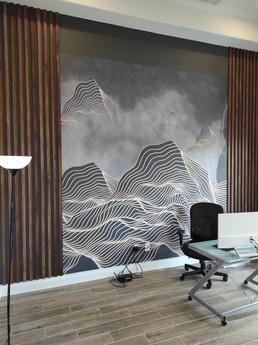 Austin tx Office wallpaper install