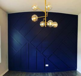 Austin Texas Blue Accent Geometric Wall