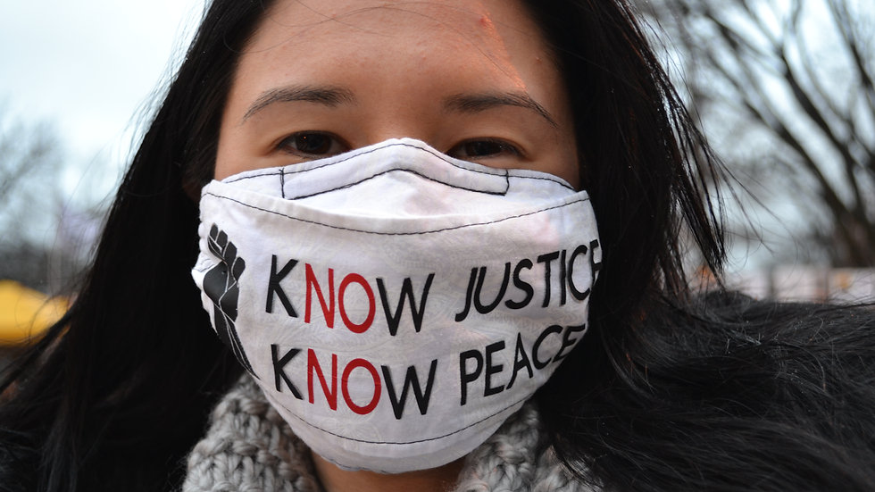 Protest Mask - Justice & Peace