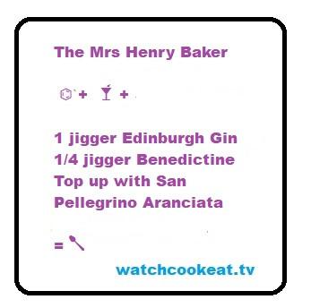 The Mrs Henry Baker Aranciata, Benedictine & Gin Cocktail