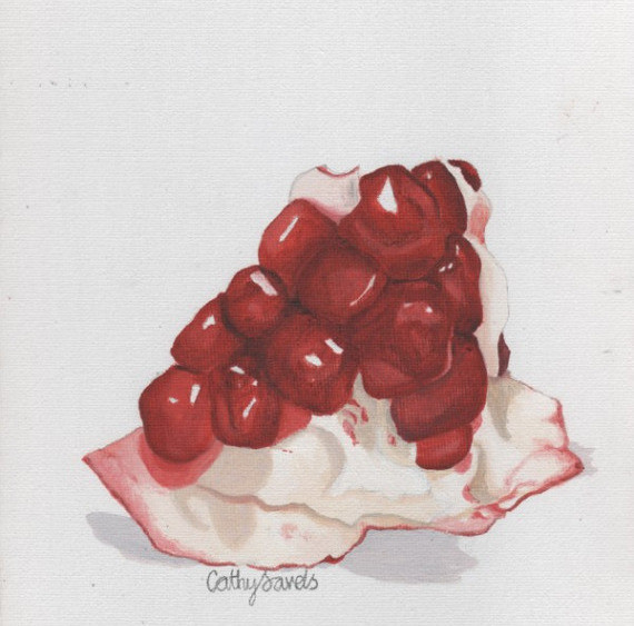Pomegranate Seeds by Cathy Savels