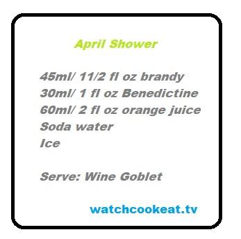April Shower! Brandy & Benedictine Cocktail Recipe