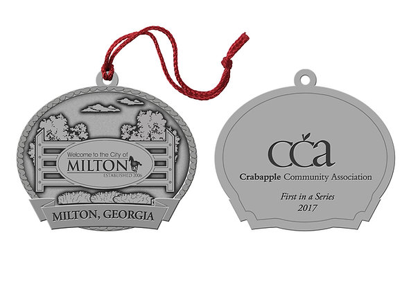2017 Milton 'Hometown Sign' Holiday Ornament
