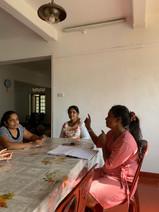 Meetings für künftige kreative Kurse im Shelter.
