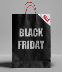 Black Friday paper bag.