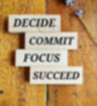 words - decide commit focus succeed on w