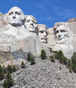 Mount Rushmore National Monument in Sout