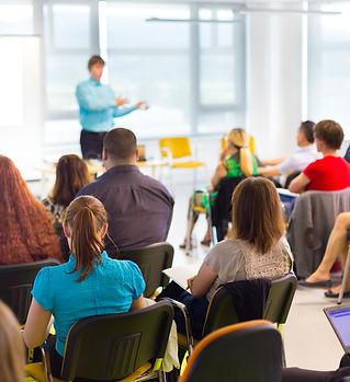 Speaker at business workshop and present
