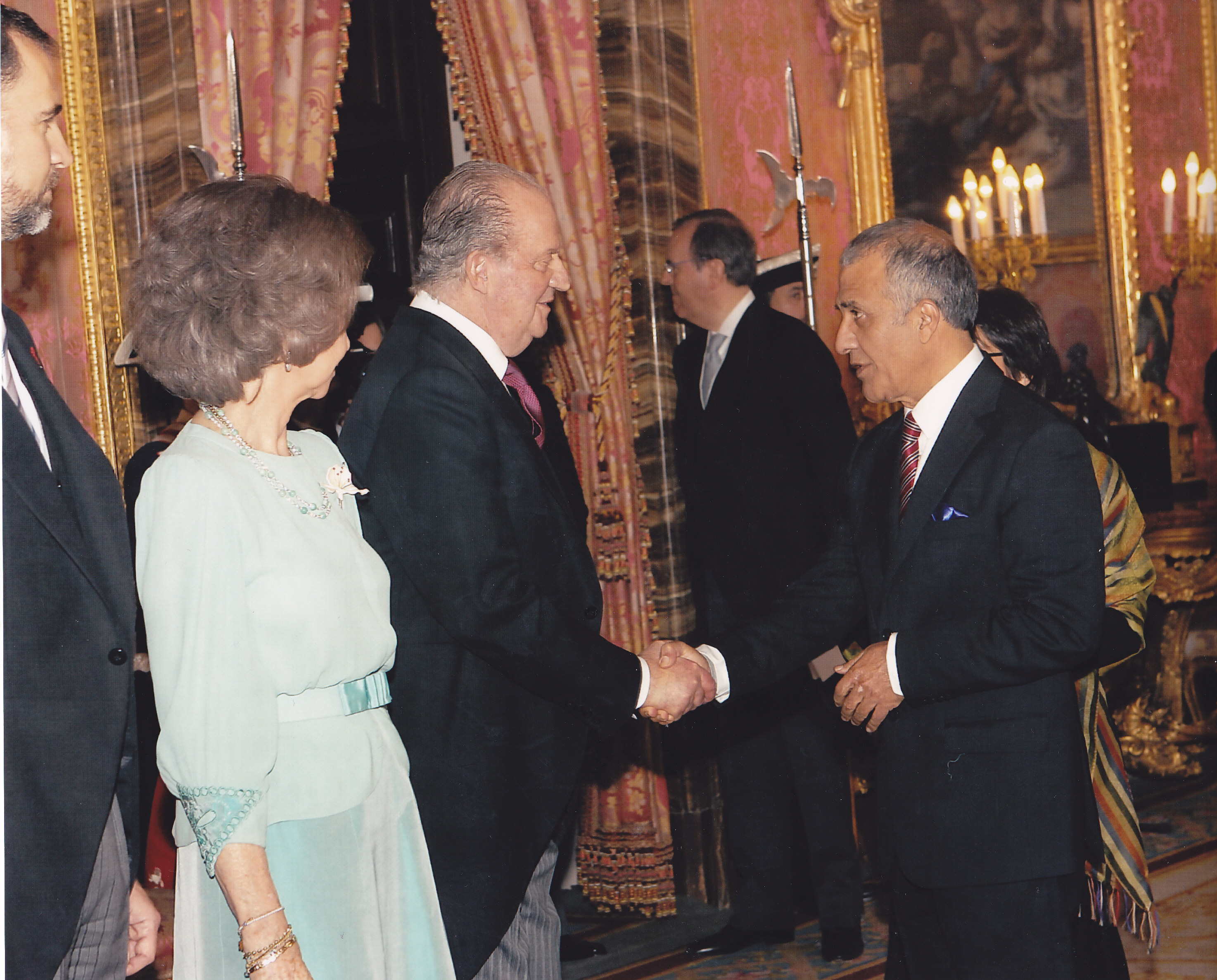 Mr. Khalili and Spanish Royal Family