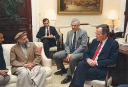 Meeting President Bush