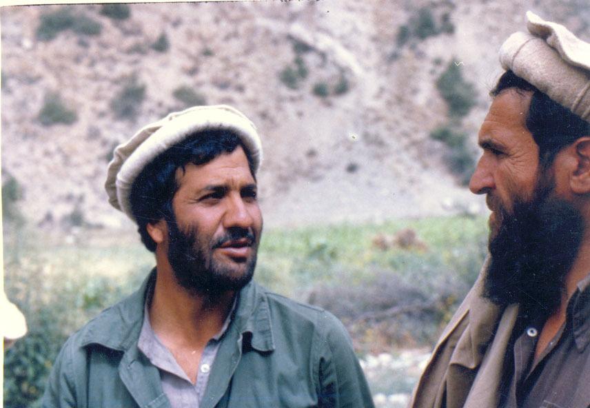 Masood with Commander Gadaa