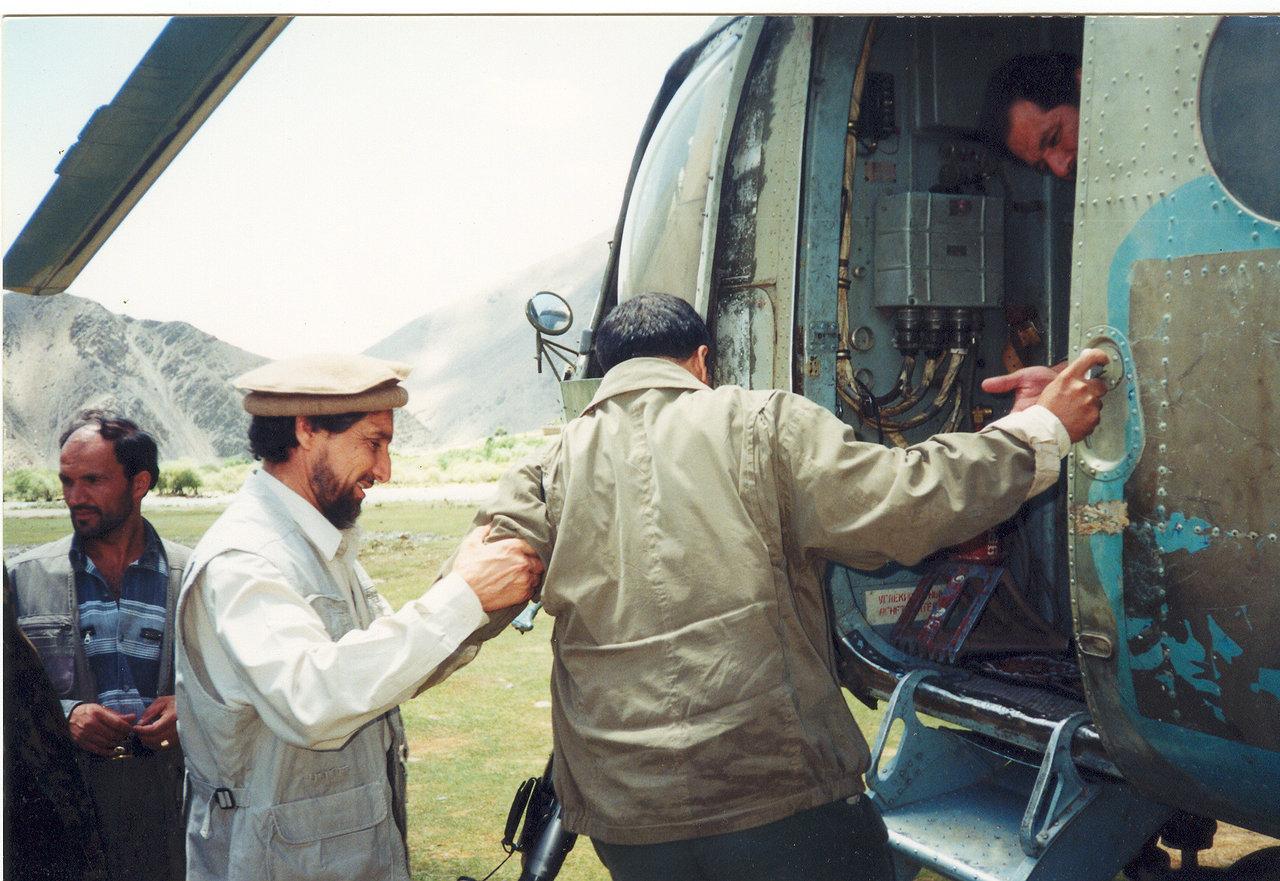 Commander Helps Mr. Khalili