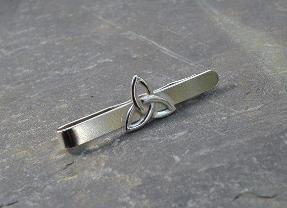 Silver Celtic Trinity knot tie slide