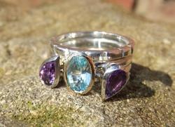 Silver Stacking Rings, weddings ring