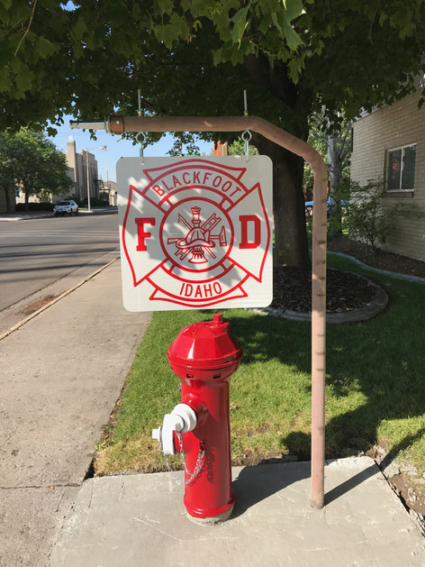 New Sign for The Blackfoot Fire Department