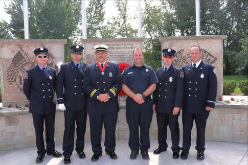 Arnie Christensen, Thomas Nickerson, Captain Dave Krumenacker, Tony Catt, Steve Stuart, and Fire Marshal Ben Hirschi